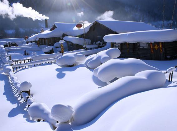 【温泉之旅】亚布力阳光度假村滑雪场、雪乡、哈尔滨冰雪大世界、日式温泉体验双飞6日游